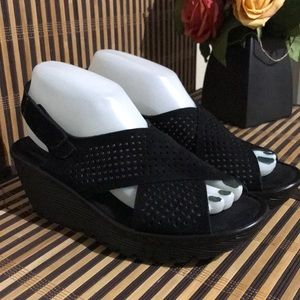 38618b352f Skechers Shoes | Parallel Infrastructure 3 Wedge Sandals | Poshmark